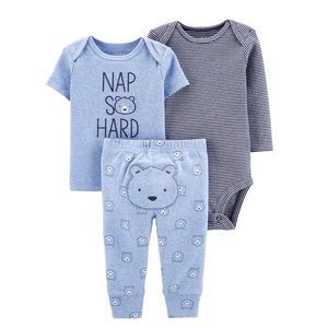 NWT Carter Child of Mine Baby Boy Outfit Set 3pc